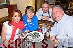 Head Chef Greg Ryan from McMunn's Restaurant with Imelda, Gemma and Mike Price from Cork enjoying the seafood as part of  Ballybunnion's first Sea Food Festival..