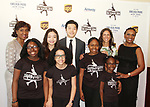 Angela Thompson - Maia & Alex Shibutani - Ellen Lowey - Candace Matthews with skaters at Figure Skating in Harlem's Champions in Life (in its 21st year) Benefit Gala recognizing the medal-winning 2018 US Olympic Figure Skating Team on May 1, 2018 at Pier Sixty at Chelsea Piers, New York City, New York. (Photo by Sue Coflin/Max Photo)