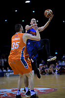 Damon Heuir in action during the national basketball league semifinal match between Nelson Giants and Southland Sharks at TSB Bank Arena in Wellington, New Zealand on Saturday, 4 August 2018. Photo: Dave Lintott / lintottphoto.co.nz
