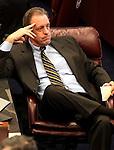 Nevada Sen. John Lee, R-North Las Vegas, listens to proceedings on the Senate floor at the Legislature in Carson City, Nev. on Monday, March 7, 2011..Photo by Cathleen Allison
