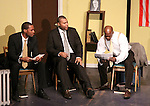 Guiding Light's Lawrence Saint-Victor, author Layon Gray, Thom Scott II & cast star in Black Angels Over Tuskegee on January 24, 2011 at the Actors Temple Theatre, New York City, New York. (Photo by Sue Coflin/Max Photos)