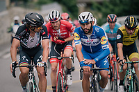 Peter Sagan (SVK/Bora-Hansgrohe) &amp; Fernando Gaviria (COL/Quick-Step Floors) chatting their way up the final climb towards Leukerbad<br /> <br /> Stage 5: Gstaad &gt; Leukerbad (155km)<br /> 82nd Tour de Suisse 2018 (2.UWT)