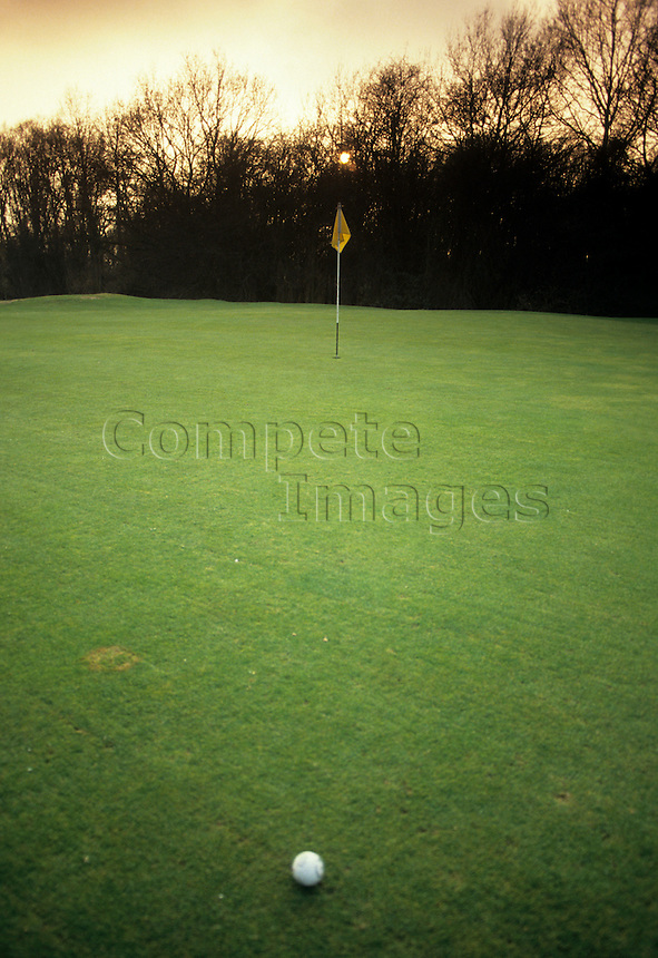Golf course fairway.
