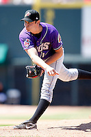 May 31, 2009:  Pitcher Josh Judy of the Akron Aeros delivers a pitch during a game at Jerry Uht Park in Erie, NY.  The Aeros are the Eastern League Double-A affiliate of the Cleveland Indians.  Photo by:  Mike Janes/Four Seam Images