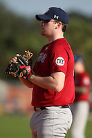 December 30, 2009:  Casey Fannin (13) of the Baseball Factory Bulldogs team during the Pirate City Baseball Camp & Tournament at Pirate City in Bradenton, FL.  Photo By Mike Janes/Four Seam Images