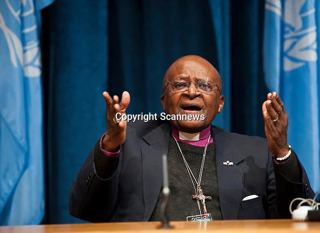 Press Conference Launching UNFPA Report on Child Marriage, Archbishop Desmond Tutu ..