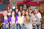 Hen party: Pictured at Christy's Well Bar in Listowel on Saturday were Lisa Enright, Liselton, centre front and her friends prior tio their departure for Dingle.