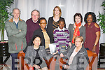 Attending the film premiere of the KDYS movie Barzakh in the Malton Hotel Killarney on Thursday night was front row l-r: Marlyn and Sheila Casey. Back row: Adrian Hillard, Michael Gleeson, Olga Ncube, Louise Gaughran, Hakeem Yekini, Joni Kelly and Mary Yekini..