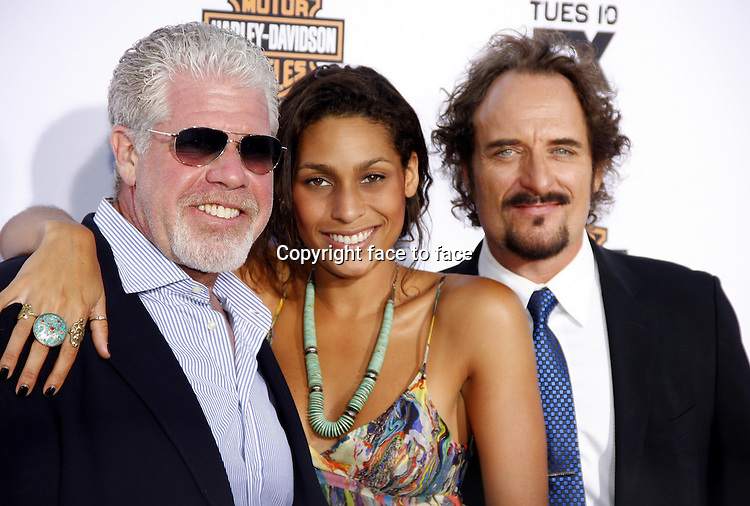 """Ron Perlman and Kim Coates at the FX's Season 6 Premiere Screening of """"Sons Of Anarchy"""" held at the Dolby Theatre in Hollywood on September 7, 2013 in Los Angeles, California. Credit: PopularImages/face to face"""