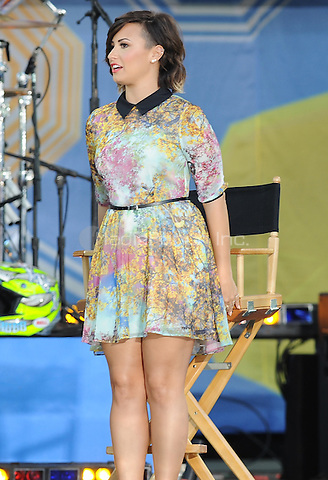 New York,NY-August 15: Demi Lovato at Good Morning America in Central Park  In New York City on August 15,2014. Credit: John Palmer/MediaPunch