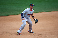 Pawtucket Red Sox third baseman Travis Shaw (21) during a game against the Rochester Red Wings on July 1, 2015 at Frontier Field in Rochester, New York.  Rochester defeated Pawtucket 8-4.  (Mike Janes/Four Seam Images)