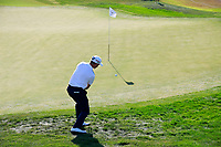 Stuart Manley (WAL) on the 2nd green during the 1st round of the 2017 Portugal Masters, Dom Pedro Victoria Golf Course, Vilamoura, Portugal. 21/09/2017<br /> Picture: Fran Caffrey / Golffile<br /> <br /> All photo usage must carry mandatory copyright credit (&copy; Golffile | Fran Caffrey)