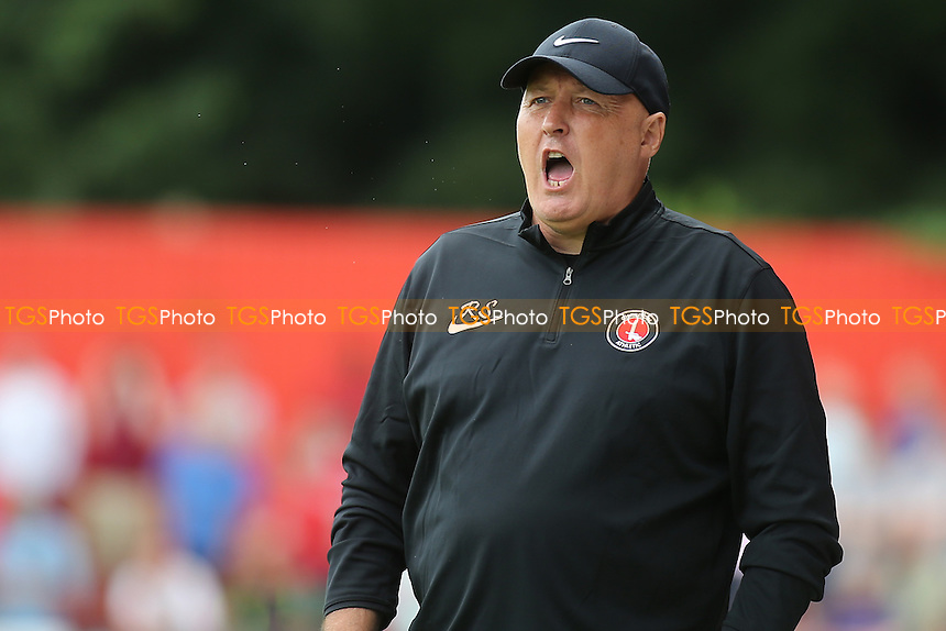 Charlton Manager, Russell Slade during Welling United vs Charlton Athletic, Friendly Match Football at the Park View Road Ground on 9th July 2016