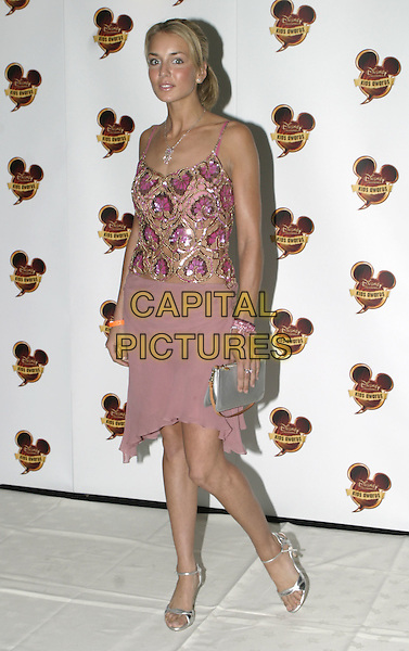 LADY ISABELLA HERVEY.Disney Kids Awards 2004, Royal Albert Hall, London, September 16th 2004..full length lilac purple sequined top pink skirt silver bag shoes.Ref: AH.www.capitalpictures.com.sales@capitalpictures.com.©Capital Pictures....