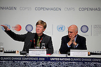 Andreas Carlgren, Swedish minister for environment, and Stavros Dimas, EU environment commissioner (right) . United Nations Climate Change Conference (COP15) was held at Bella Center in Copenhagen from the 7th to the 18th of December, 2009. A great deal of groups tried to voice their opinion and promote their cause in various ways. The conference and demonstrations was covered by thousands of photographers and journalists from all over the world...©Fredrik Naumann/Felix Features.
