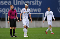 Monday 20th August 2018<br /> Pictured: Swansea City's Brandon Cooper<br /> Re: Swansea City U23 v Derby County U23 Premier League 2 match at the Landore Training facility, Swansea, Wales, UK