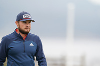 Tyrrell Hatton (ENG) on the 18th tee during the final round of the US Open Championship, Pebble Beach Golf Links, Monterrey, Calafornia, USA. 16/06/2019.<br /> Picture Fran Caffrey / Golffile.ie<br /> <br /> All photo usage must carry mandatory copyright credit (© Golffile | Fran Caffrey)