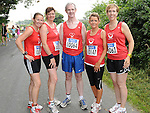 Yasmin Cannng, Siobhan Shortt, Gerard Fay, Olwyn McGinn and Judith Faulkner of Drogheda and District AC who took part in the Annagassan 10K run. Photo: Colin Bell/pressphotos.ie