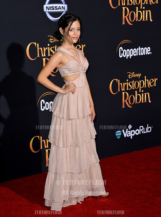 Jenna Ortega at the world premiere of Disney's &quot;Christopher Robin&quot; at Walt Disney Studios, Burbank, USA 30 July 2018<br /> Picture: Paul Smith/Featureflash/SilverHub 0208 004 5359 sales@silverhubmedia.com