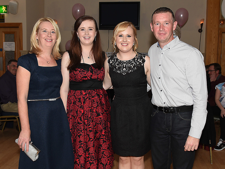 Aisling McDonnell celebrating her 21st birthday in the Thatch with parents Dermot and Julieand sister Leah. Photo:Colin Bell/pressphotos.ie