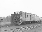 3/4 front view of Rotary OY with water car at Chama.<br /> D&amp;RGW  Chama, NM