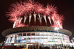 General view, <br /> AUGUST 18, 2018 - Opening Ceremony : <br /> Opening Ceremony <br /> at Gelora Bung Karno Main Stadium <br /> during the 2018 Jakarta Palembang Asian Games <br /> in Jakarta, Indonesia. <br /> (Photo by Naoki Nishimura/AFLO SPORT)