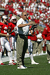 Madison, Wisconsin - 9/20/03. University of Wisconsin head coach Barry Alvarez during the North Carolina game at Camp Randall Stadium. Wisconsin beat North Carolina 38-27. (Photo by David Stluka)