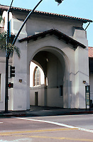 Mission RR Stations: Santa Fe Depot Baggage Building Entrance, San Diego. (To be the entrance of New Art Galleries--2003)  Photo '03.