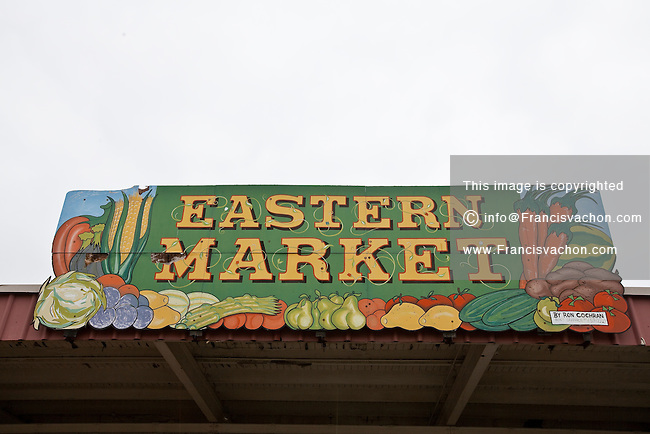 Detroit Eastern Farmers market is seen in Detroit (Mi) Saturday June 8, 2013. The largest open-air flowerbed market in the United States, the Eastern Market is a historic commercial district in Detroit, Michigan.