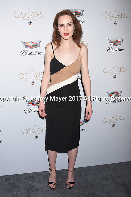 LOS ANGELES, CA - FEBRUARY 23: Actress Michelle Dockery attends Cadillac's 89th annual Academy Awards celebration at Chateau Marmont on February 23, 2017 in Los Angeles, California.