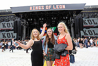 Pictured: Wednesday 02 July 2014<br /> Re: Kings of Leon at the Liberty Stadium, Swansea, south Wales.
