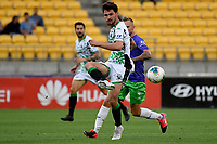 Panagiotis Kone of Western United FC during the A League - Wellington Phoenix v Western United FC at Sky Stadium, Wellington, New Zealand on Friday 21 February 2020. <br /> Photo by Masanori Udagawa. <br /> www.photowellington.photoshelter.com