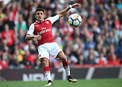 9th September 2017, Emirates Stadium, London, England; EPL Premier League Football, Arsenal versus Bournemouth; Alexis Sanchez of Arsenal looks on as his hot is deflected by Steve Cook of Bournemouth