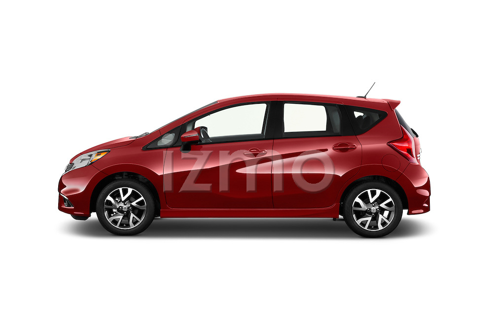 Car driver side profile view of a 2015 Nissan Versa Note 5 Door Hatchback
