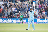 Jos Buttler (England) acknowledges his half century during England vs Bangladesh, ICC World Cup Cricket at Sophia Gardens Cardiff on 8th June 2019