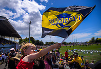 Fans at the Super Rugby preseason match between the Hurricanes and Crusaders at Levin Domain in Levin, New Zealand on Saturday, 2 February 2019. Photo: Dave Lintott / lintottphoto.co.nz