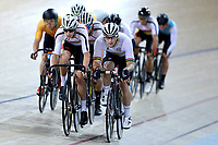Tom Sexton (L) of Southland and Dylan Kennett of Waikato BOP lead out front in the Elite Men Omnium 3, Elimination, at the Age Group Track National Championships, Avantidrome, Home of Cycling, Cambridge, New Zealand, Saturday, March 18, 2017. Mandatory Credit: © Dianne Manson/CyclingNZ  **NO ARCHIVING**