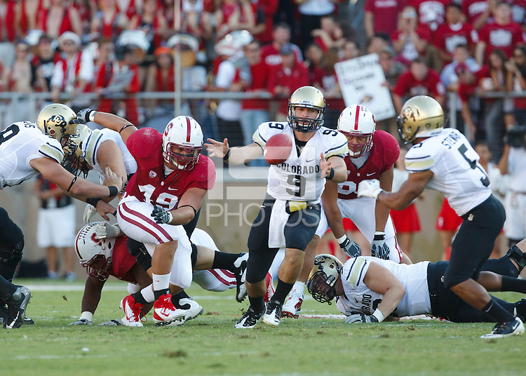 STANFORD, CA-OCTOBER 8, 2011- Stanford beats Colorado 48-7 at Stanford Stadium.