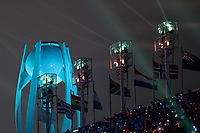 PYEONGCHANG,SOUTH KOREA,09.FEB.18 - OLYMPICS - Olympic Winter Games PyeongChang 2018, official opening ceremony. Image shows an olympic torch. Photo: GEPA pictures/ Matic Klansek / Copyright : Explorer-media