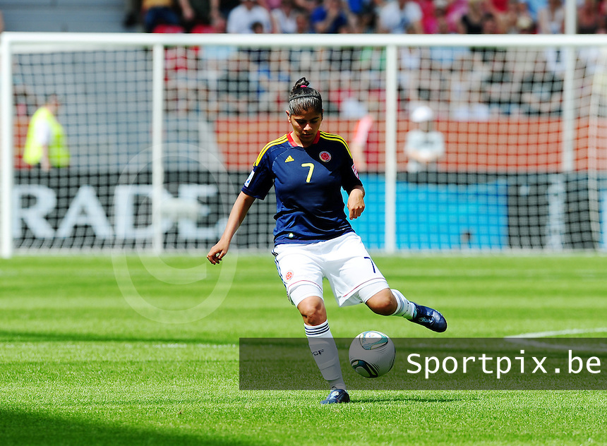 Fifa Women's World Cup Germany 2011 : Colombia - Sweden at Bayarena Leverkusen : Catalina Usme.foto DAVID CATRY / Vrouwenteam.be