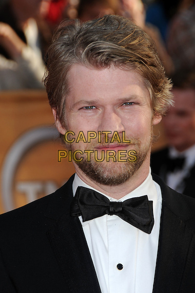 TODD LOWE.16th Annual Screen Actors Guild Awards - Arrivals held at The Shrine Auditorium, Los Angeles, California, USA..January 23rd, 2009.SAG SAGs headshot portrait black white bow tie beard facial hair .CAP/ADM/BP.©Byron Purvis/Admedia/Capital Pictures