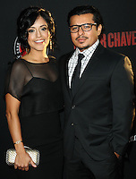 "HOLLYWOOD, LOS ANGELES, CA, USA - MARCH 20: Sylvia Arzate, Jacob Vargas at the Los Angeles Premiere Of Pantelion Films And Participant Media's ""Cesar Chavez"" held at TCL Chinese Theatre on March 20, 2014 in Hollywood, Los Angeles, California, United States. (Photo by Celebrity Monitor)"