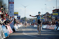 Michal Kwiatkowski (POL/SKY) sprints to victory against world champion Peter Sagan (SVK/Tinkoff)<br /> <br /> E3 - Harelbeke 2016