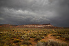 Storm clouds hover over Gooseberry Mesa in Southern Utah