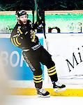 Stockholm 2015-01-04 Ishockey Hockeyallsvenskan AIK - Vita H&auml;sten :  <br /> AIK:s Christian Sandberg firar sitt avg&ouml;rande m&aring;l i straffl&auml;ggningen under matchen mellan AIK och Vita H&auml;sten <br /> (Foto: Kenta J&ouml;nsson) Nyckelord:  AIK Gnaget Hockeyallsvenskan Allsvenskan Hovet Johanneshov Isstadion Vita H&auml;sten jubel gl&auml;dje lycka glad happy