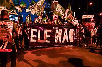 RIO DE JANEIRO, RJ, 29.09.2018 PROTESTO-RJ - Mulheres realizam protesto contra o candidato a presidencia do Brasil, Jair Bolsonaro (PSL) e usam o termo que viralizou nas redes sociais #EleNao no bairro da Cinelândia, centro do Rio de Janeiro neste sábado, 29. (Foto: Vanessa Ataliba/Brazil Photo Press)