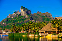 Four Seasons Resort Bora Bora (with Mt. Otemanu in background), French Polynesia.