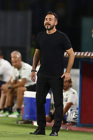 Roberto De Zerbi of coach US Sassuolo<br /> during the Serie A football match between SSC  Napoli and US Sassuolo at stadio San Paolo in Naples ( Italy ), July 25th, 2020. Play resumes behind closed doors following the outbreak of the coronavirus disease. <br /> Photo Cesare Purini / Insidefoto