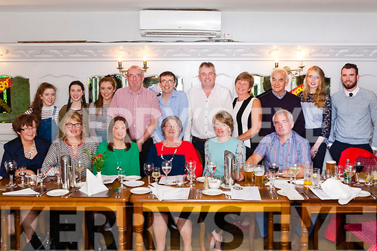 Anne Sheahan (seated centre) from Ballyguiltenane, Glin, celebrated her 80th. Birthday last Saturday night in Leen&rsquo;s Hotel Abbeyfeale with family &amp; friends.<br /> Seated: Mary Fennell (Friend), Anna Sheahan (Daughter in Law), Maura Sheahan ( Daughter in Law), Anne Sheahan, Mary Sheahan ( Daughter in Law), Mike Flaherty (Friend).<br /> Back: Anna , Ellen &amp; Claire Sheahan (Granddaughters), Mike Sheahan (Son), Pa Sheahan (Son), John Sheahan (Son), Breda Enright (Friend), Mikey Scannell (Friend), Nicola Sheahan (Granddaughter),<br /> Darren Sheahan (Grandson).