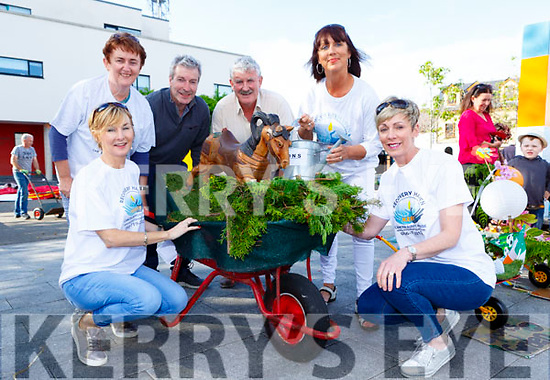Caroline Foley, Patricia Tyther, Brendan Tyther, Brendan Ferris Anne Coffey, Mirinda Aherne  the Lawnmower run in Killorglin in aid of Recovery Haven on Friday evening